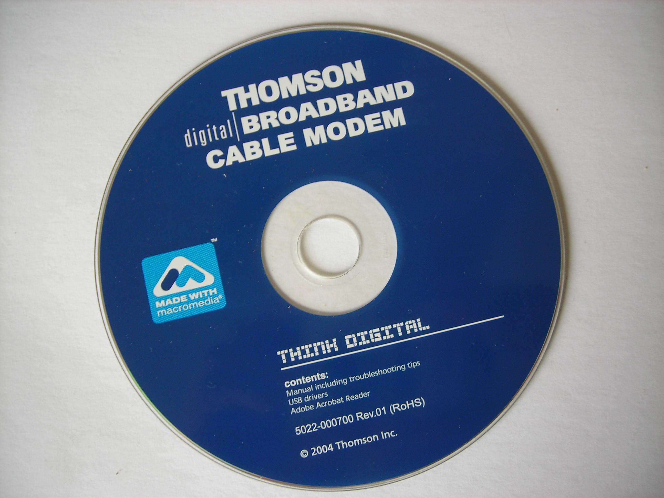 Thomson Digital | BROADBAND CABLE MODEM : Thomson Inc
